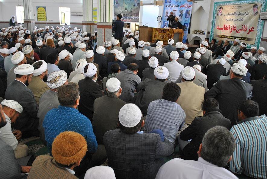 مراسم عمامه گزاری طلاب علوم دینی در قازانقایه + تصاویر